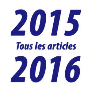 Tous les articles de l'année 2015-2016
