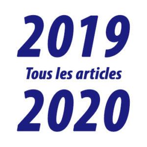 Tous les articles de l'année 2019-2020
